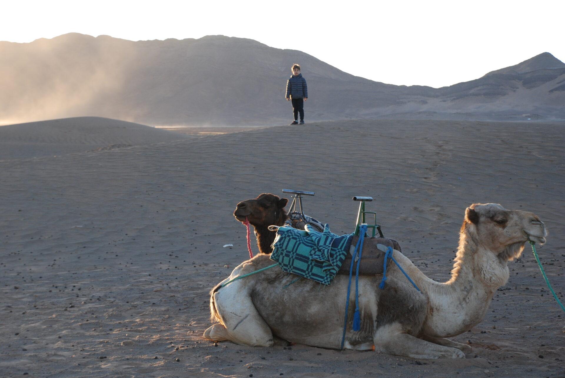 Notte nel deserto di Zagora con un bambino
