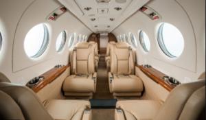 interno di un jet privato