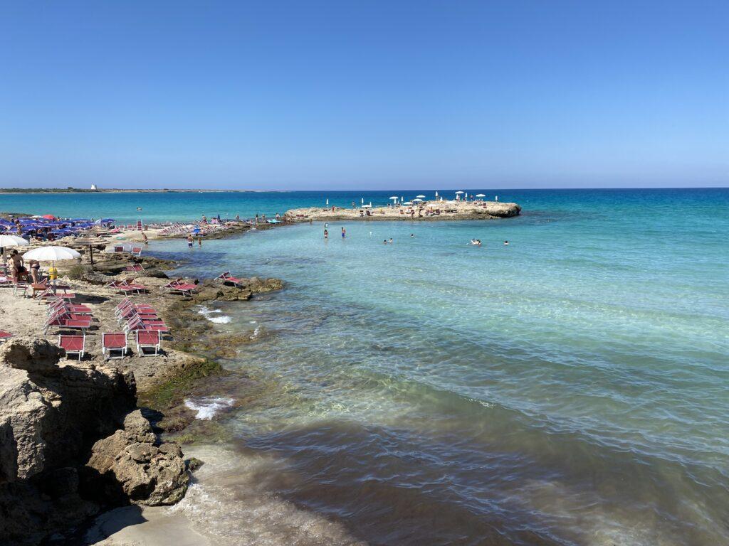 Lido punta della suina Salento- panoramica della spiaggia