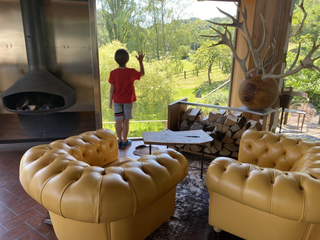 Ristorante stella Michelin La Subida nel cuore del Collio Goriziano- immagine di una sala interna del ristorante