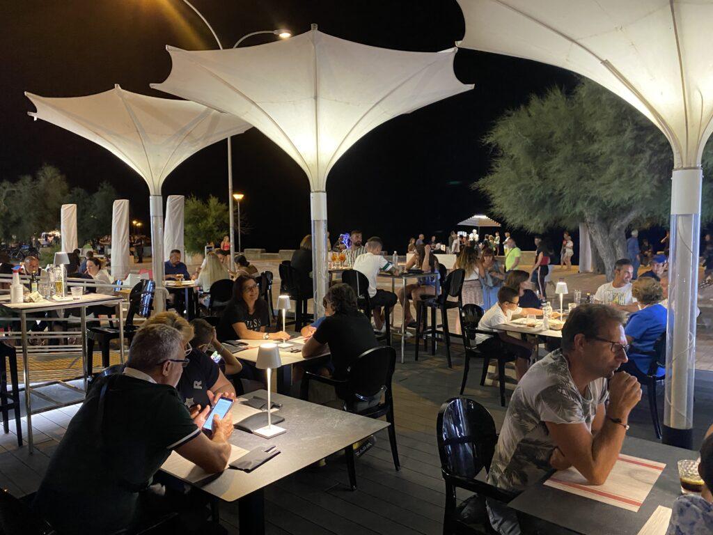 Esterno del ristorante pizzeria azzurra torre San Giovanni Salento