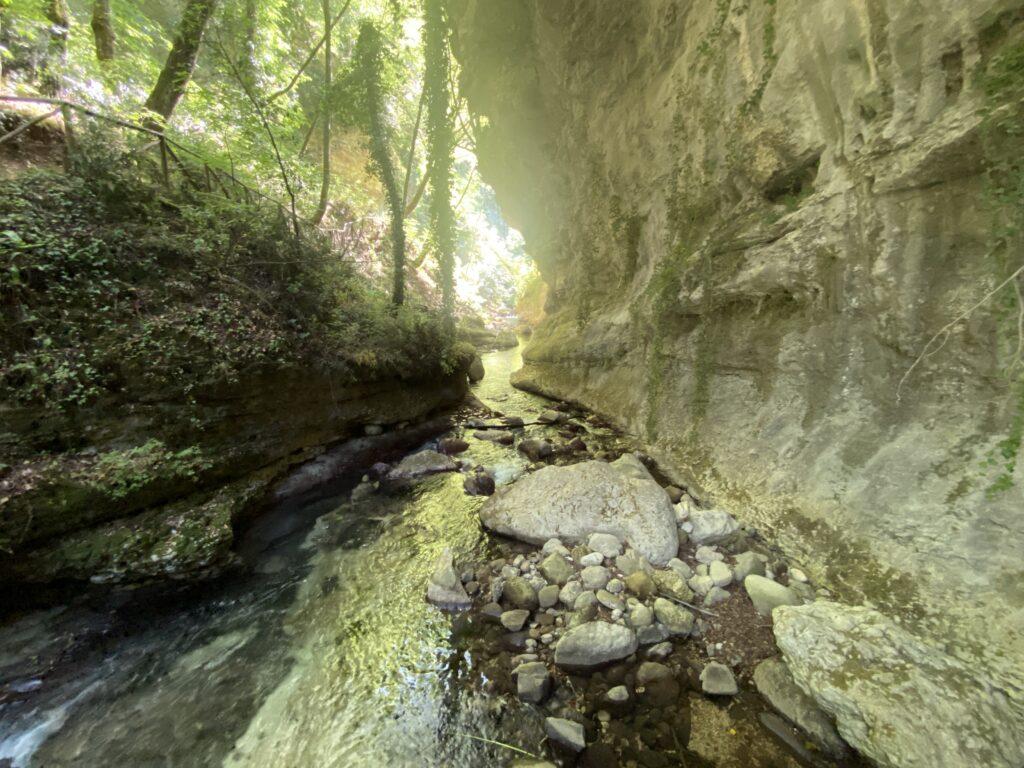 bellissimo scorcio di un ruscello nella Valle dell'Orfento